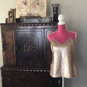 🆕NWT🆕 gold sequin tank